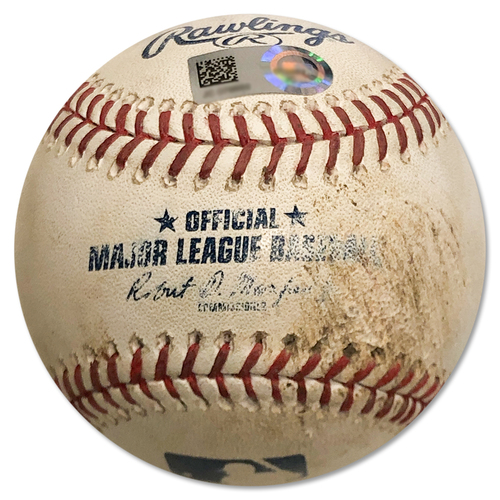 Photo of Game Used Baseball - Jeurys Familia to Michael Taylor - Strikeout - Jeurys Familia to Wilmer Difo - Ball - 9th Inning - Mets vs. Nationals - 7/14/18