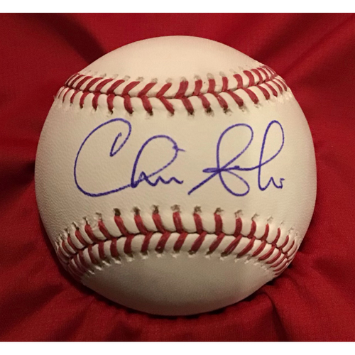 Photo of Chris Sabo Autographed Baseball