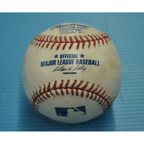 Photo of Game-Used Baseball - Pitcher - Chris Carpenter, Batter - Ryan Zimmerman - Pitch in the Dirt - Albert Pujols 400th HR game - 8/26/2010