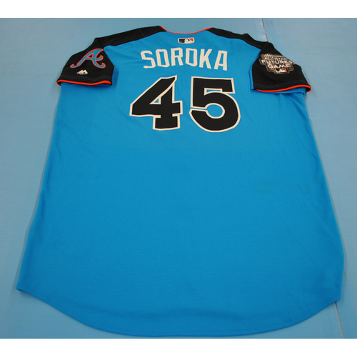Photo of Game-Used Batting Practice Jersey - 2017 All-Star Futures Game - Mike Soroka - Size 48