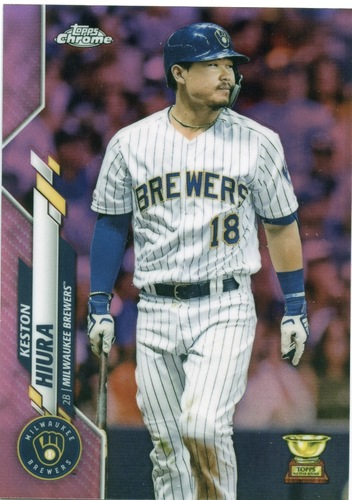 Photo of 2020 Topps Chrome Pink Refractors #25 Keston Hiura