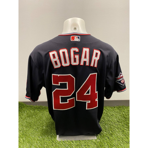 Photo of Tim Bogar 2020 Game-Used World Series Champions Navy Script Jersey