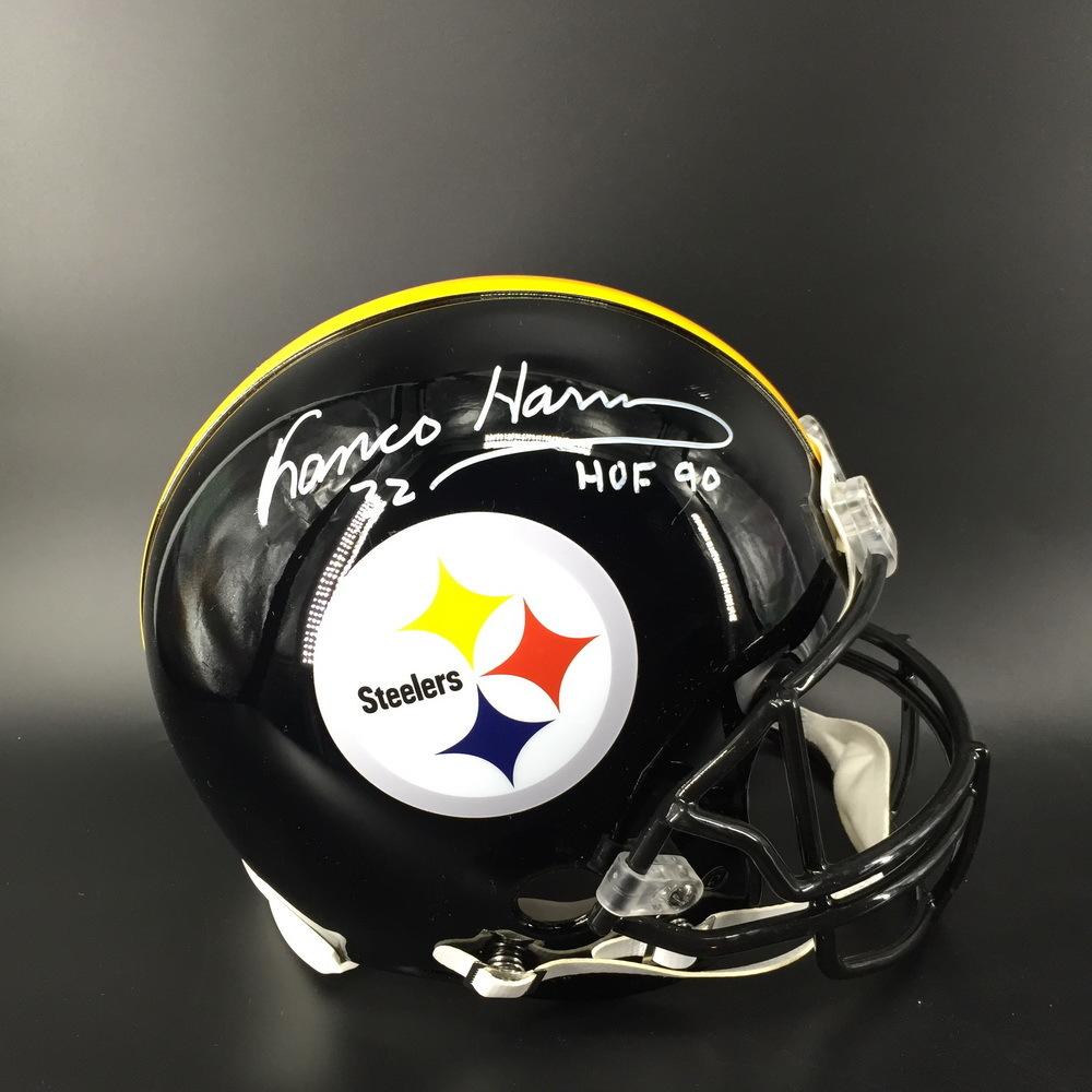 HOF - Steelers Franco Harris Signed Proline Helmet