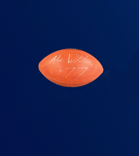 "Photo of Andrew Whitworth Signed Authentic ""The Duke"" Football"