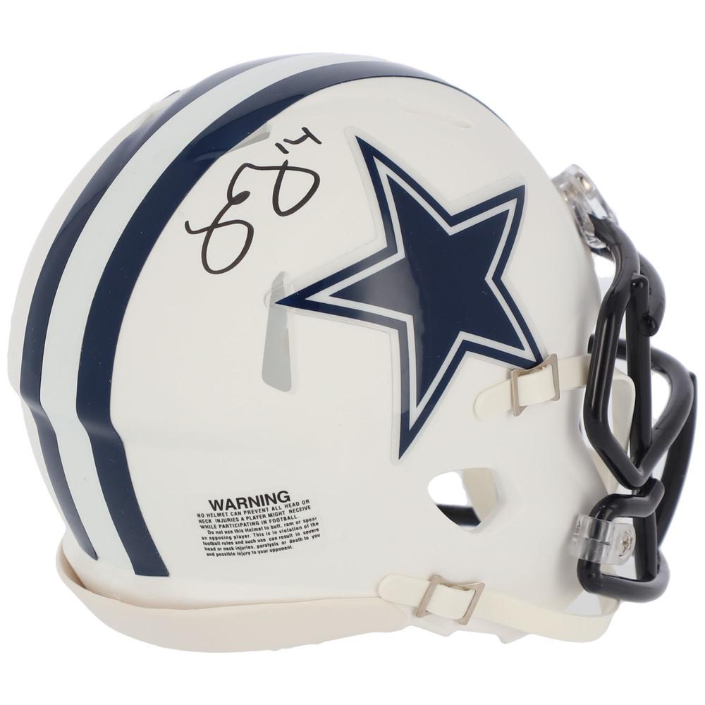 Jamie Benn Dallas Stars Autographed Dallas Cowboys Riddell Flat White Alternate Speed Mini Helmet - NHL Auctions Exclusive