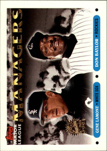 Photo of 1993 Topps Inaugural Marlins #504 Gene Lamont MG/Don Baylor MG