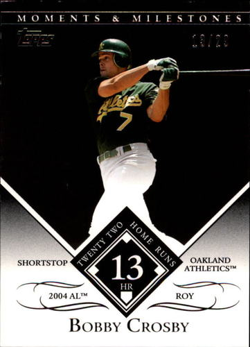 Photo of 2007 Topps Moments and Milestones Black #87-13 Bobby Crosby/HR 13