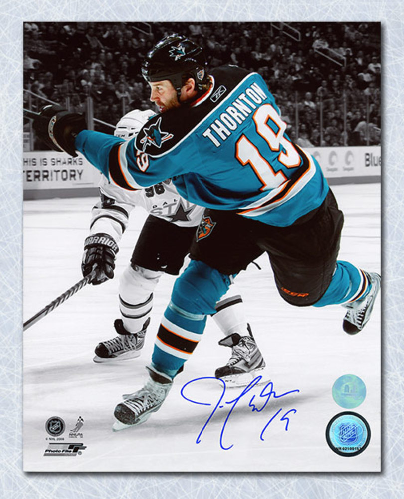 Joe Thornton San Jose Sharks Autographed Sniper Spotlight 8x10 Photo