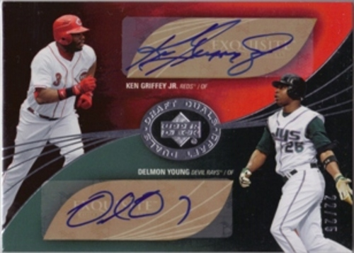 Photo of 2007 Exquisite Collection Rookie Signatures Draft Duals Autographs #GY Ken Griffey Jr./Delmon Young