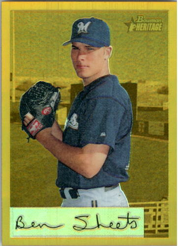 Photo of 2002 Bowman Heritage Gold Chrome Refractors #102BHC Ben Sheets
