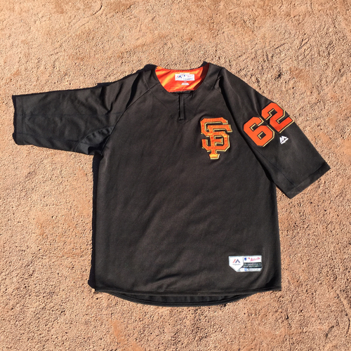 San Francisco Giants - 2017 Game-Used Batting Practice Jersey Worn by #62 Cory Gearrin (Size: L)