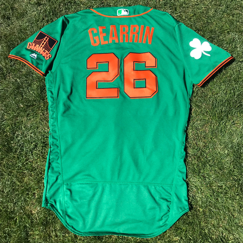 Photo of San Francisco Giants - 2018 St. Patrick's Day - Team Issued Jersey - Cory Gearrin