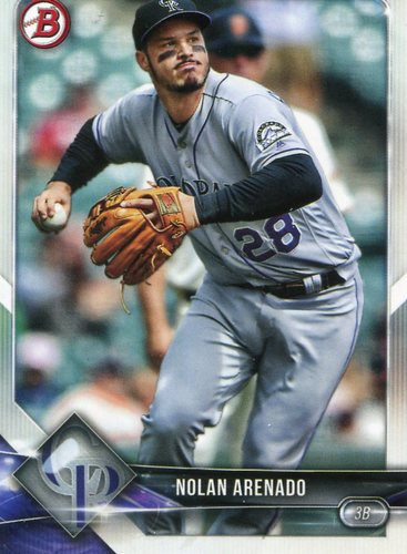 Photo of 2018 Bowman #81 Nolan Arenado