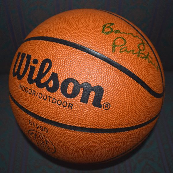 Photo of Barry Parkhill Autographed Basketball