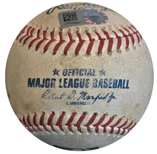 Photo of Game-Used Baseball from Pirates vs. Giants on 5/12/18 - Colin Moran Single
