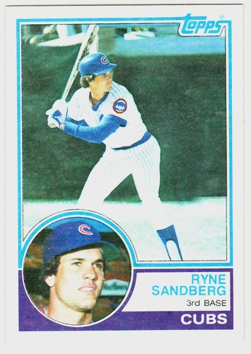 Photo of 1983 Topps #83 Ryne Sandberg Rookie Card -- Hall of Fame Class of 2005