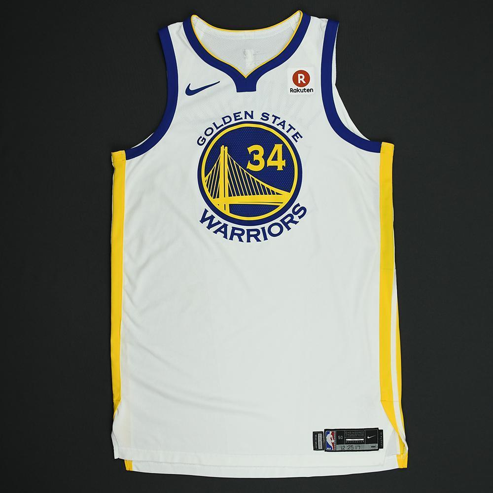 Shaun Livingston - Golden State Warriors - NBA Christmas Day '17 Game-Worn Jersey