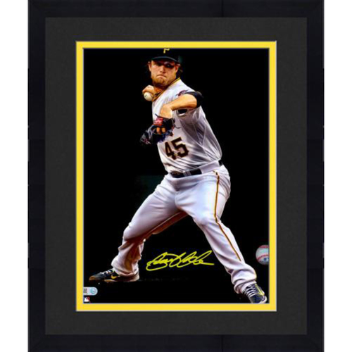 "Photo of Gerrit Cole Pittsburgh Pirates Framed Autographed 11"" x 14"" Spotlight Photo"