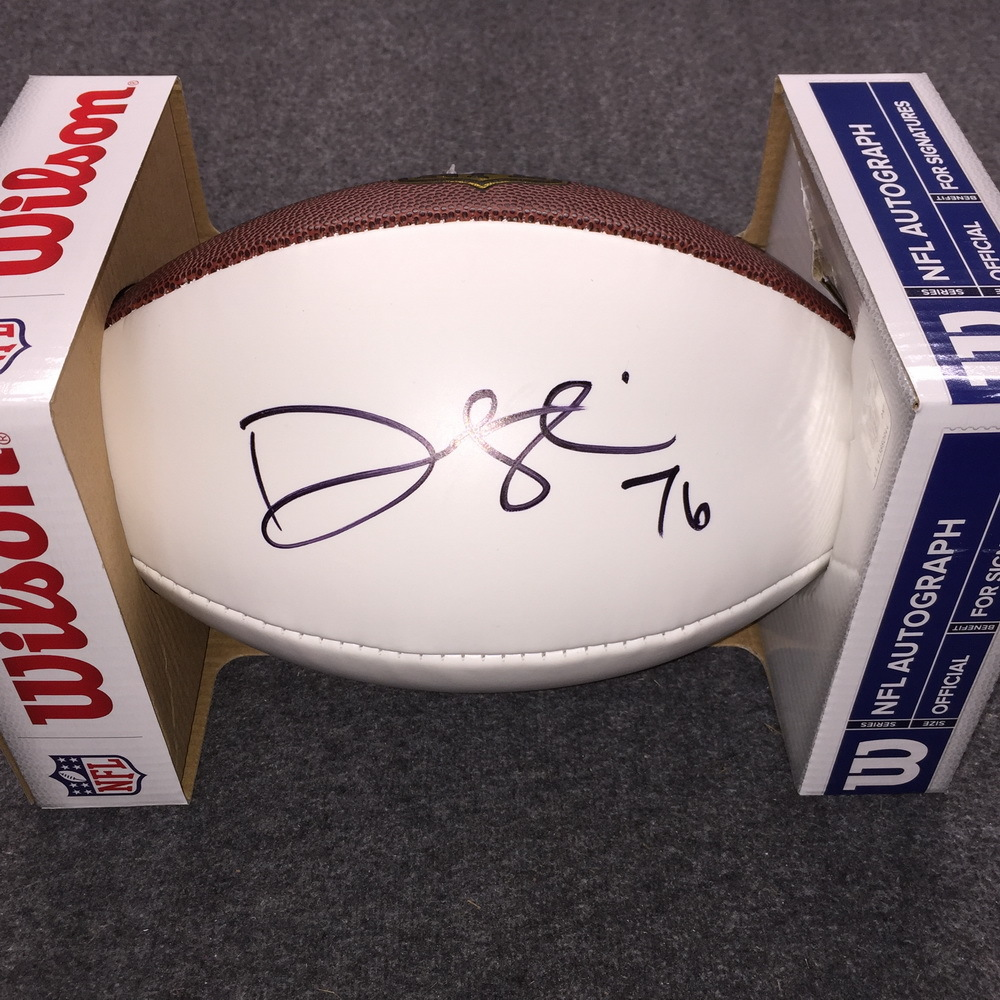 NFL - Cardinals Deuce Lutui signed panel ball