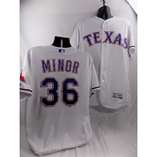 Photo of 3/29/18 - Game-Used White Jersey - Mike Minor