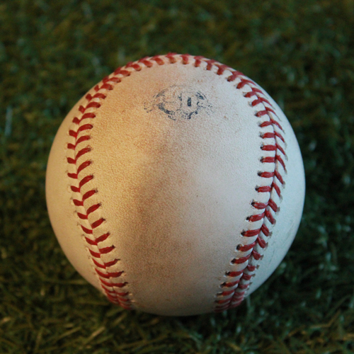 Photo of Game-Used Baseball: Chris Gimenez 43rd Career Double and Jorge Polanco 265th Career Hit (MIN @ KC - 9/13/18)