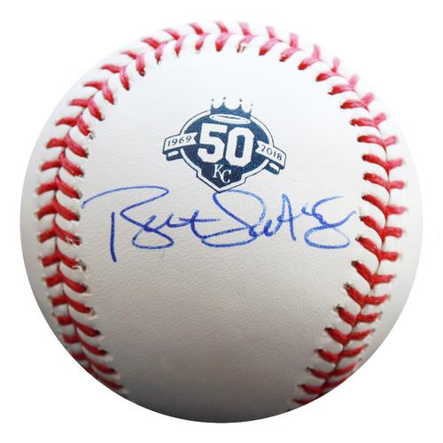 Photo of Autographed 50th Season Baseball: Bret Saberhagen