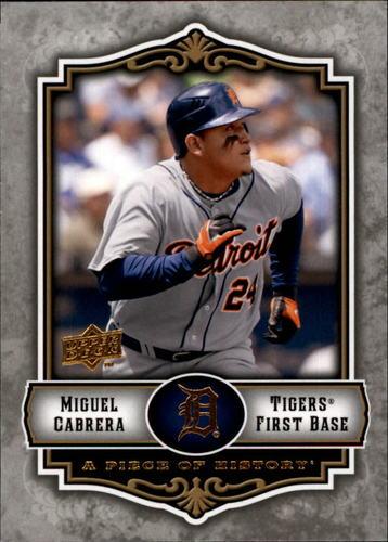 Photo of 2009 UD A Piece of History #33 Miguel Cabrera