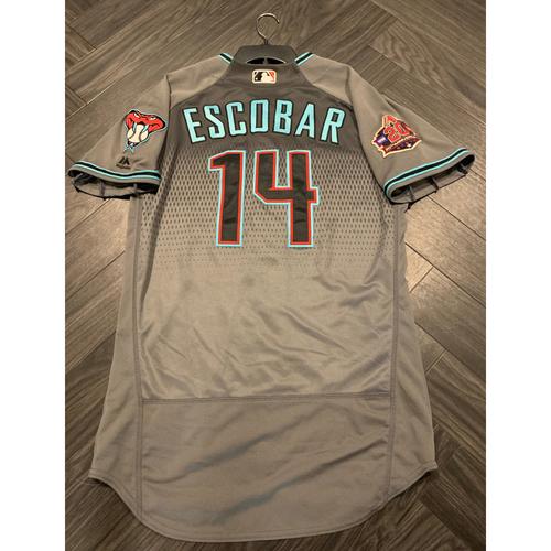 September 11, 2018 Game-Used Eduardo Escobar Jersey