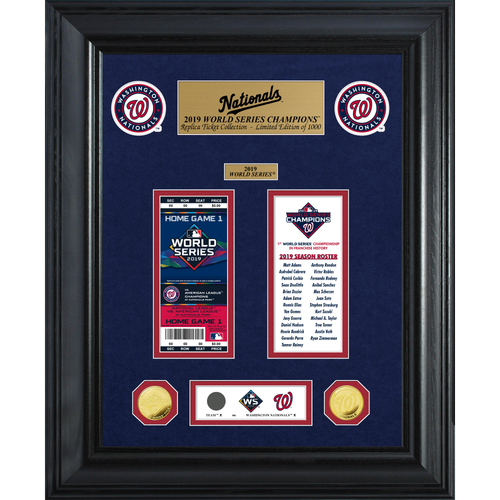 Photo of Washington Nationals 1-Time World Series Champions Gold Coin & Ticket Collection