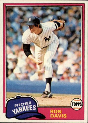 Photo of 1981 Topps #16 Ron Davis