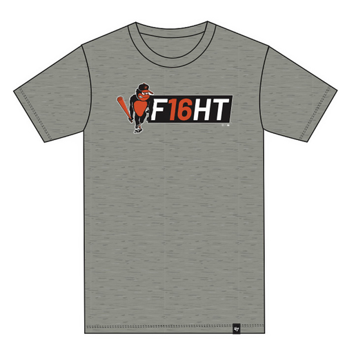"Photo of Baltimore Orioles - Trey Mancini ""F16HT"" T-Shirt - Slate Grey - Choose your Size!"