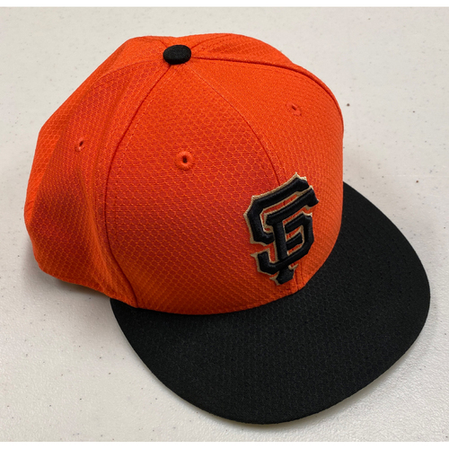 Photo of 2019 Team Issued Orange Batting Practice Cap - #47 - Size 8