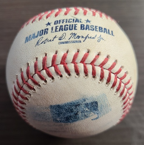 Photo of Authenticated Game Used Baseball: Foul by Renato Nunez against Tanner Roark (Aug 30, 20 vs BAL). Top 3. Game played in Buffalo.