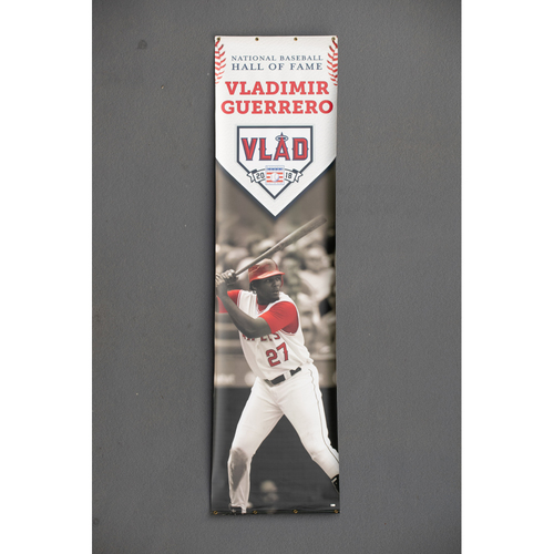 Photo of Vladimir Guerrero Team-Issued Stadium Banner