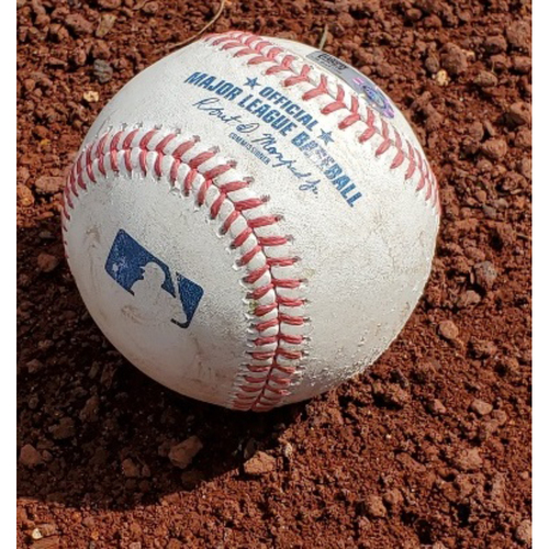 Photo of 2021 Phillies Game-Used Baseball - Pete Alonso 3-Run Double