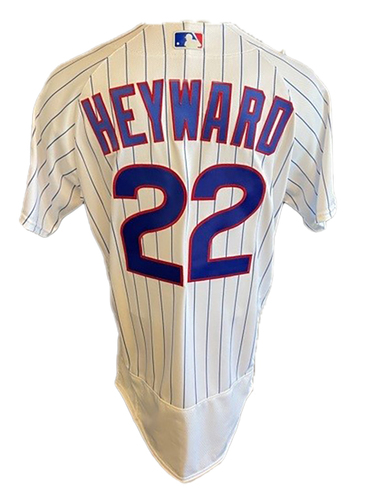 Photo of Jason Heyward Game-Used Jersey -- Mother's Day 2021 -- Pirates vs. Cubs -- 5/9/21 -- Size 44T + 1B