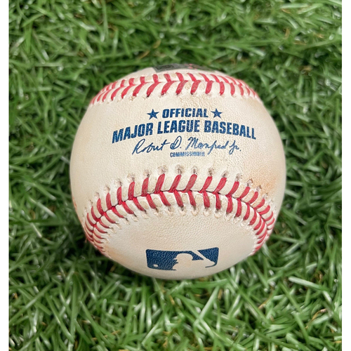 Photo of Game Used Baseball: Anthony Rendon 2RBI double off Shane McClanahan - David Fletcher and Shohei Ohtani Score - Top 3 - June 26, 2021 v LAA