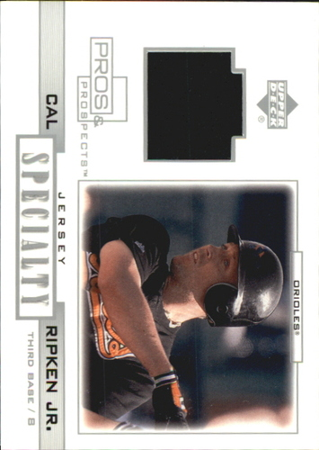 Photo of 2001 Upper Deck Pros and Prospects Specialty Game Jersey #SCR Cal Ripken