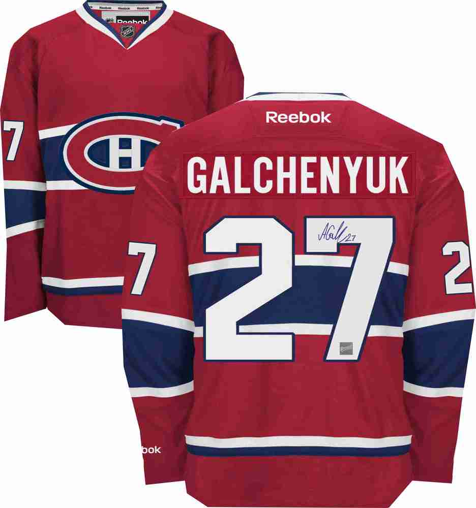 Alex Galchenyuk - Signed Montreal Canadiens Dark Replica Jersey