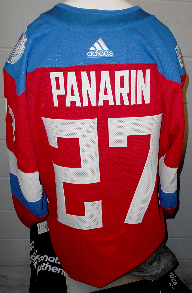 Artemi Panarin Chicago Blackhawks Game-Worn Home World Cup of Hockey 2016  Team Russia Jersey 1ba4d8b67