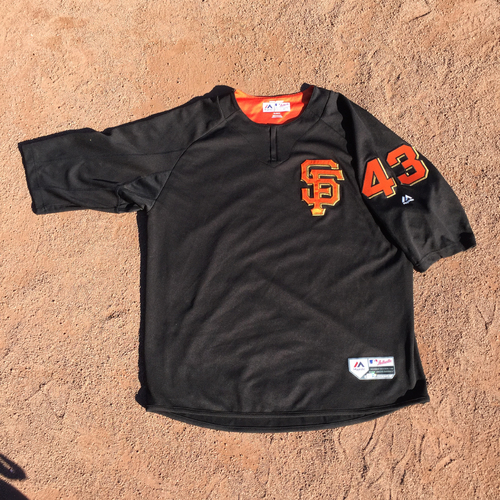 San Francisco Giants - 2017 Game-Used Batting Practice Jersey Worn by #43 Tim Federowicz (Size: XL)