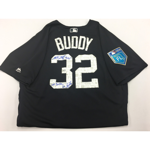 Photo of BUDDY Jersey #32 - Spring Training Worn Detroit Tigers Jersey Autographed and Inscribed by Michael Fulmer and Ron Gardenhire (MLB Authentic)