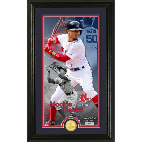 Photo of Serial #1! Mookie Betts Supreme Bronze Coin Photo Mint