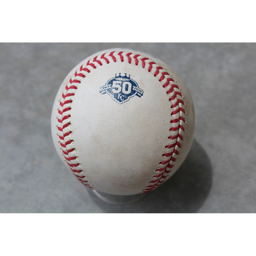 Photo of Game-Used Baseball: Jesus Sucre 105th Career Hit (TB at KC - 5/15/18)