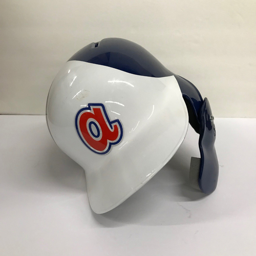 Photo of Dansby Swanson Game-Used 1974 Throwback Helmet - Size 7 1/4 - Worn 6/22/2018