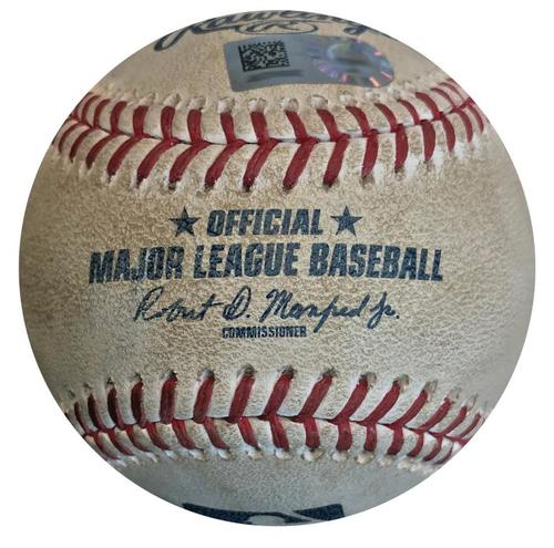 Photo of Game-Used Baseball from Pirates vs. Giants on 5/13/18 - Nova to Crawford, Ball in Dirt