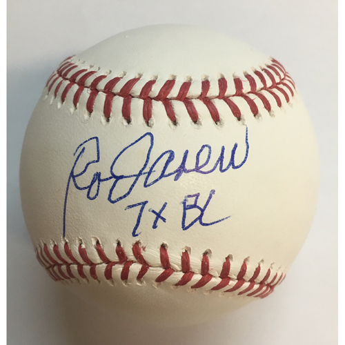"Photo of Rod Carew ""7x BC"" Autographed Baseball"