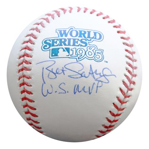 Photo of Autographed 1985 World Series Baseball: Bret Saberhagen