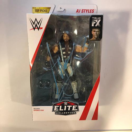 Photo of AJ Styles SIGNED Elite Series Top Picks Action Figure