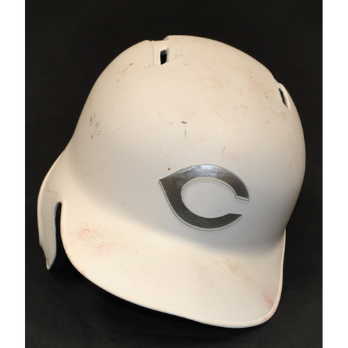 "Photo of Derek ""DIETZ"" Dietrich Cincinnati Reds Game-Used 2019 Players' Weekend Helmet"